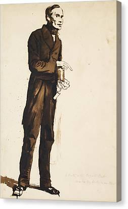 Hogarth Canvas Print - A Porter To The Hogarth Club by William Holman Hunt