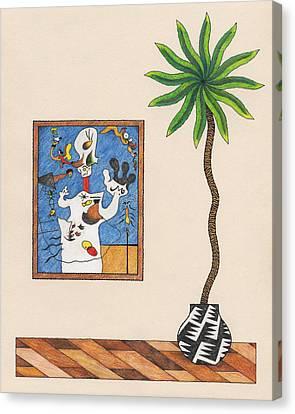 A Potato A Palm Tree Canvas Print by Matt Leines