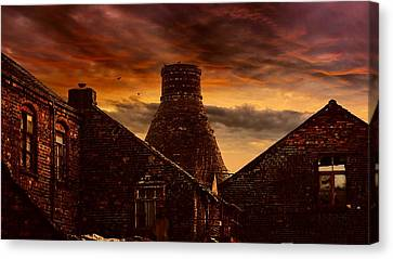 A Potteries Sunset Canvas Print by Four Shires Rambler