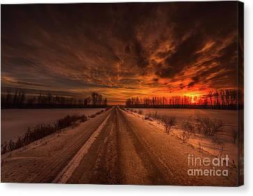 Grid Canvas Print - A Prairie Morning by Ian McGregor