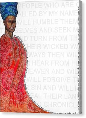 Haiti Canvas Print - A Prayer For Haiti Redd by James Redd