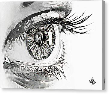 A Prayerful Eye Canvas Print by Lynda Payton