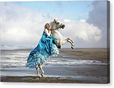 A Princess And Her Steed Canvas Print