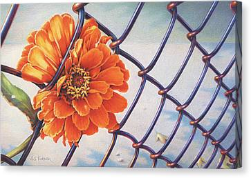 A Prison Of Her Own Making Canvas Print by Amy S Turner