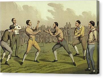 Boxer Canvas Print - A Prize Fight by Henry Thomas Alken
