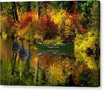 Canvas Print featuring the photograph A Quiet Autumn Evening by Diane Schuster