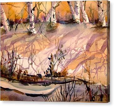A Quiet Light Canvas Print by Mindy Newman