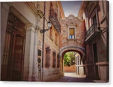 A Quiet Little Corner Of Madrid  Canvas Print