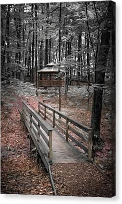 Wooden Building Canvas Print - A Quiet Place by Tom Mc Nemar