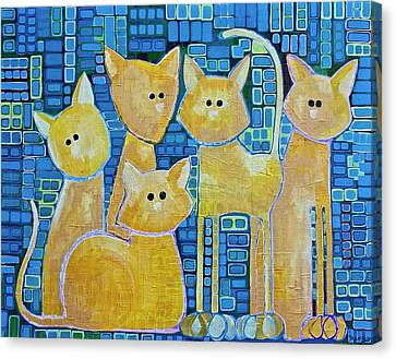 A Quorum Of Cats Canvas Print