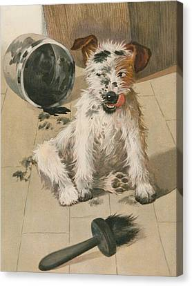 A Ragamuffin Canvas Print by English School