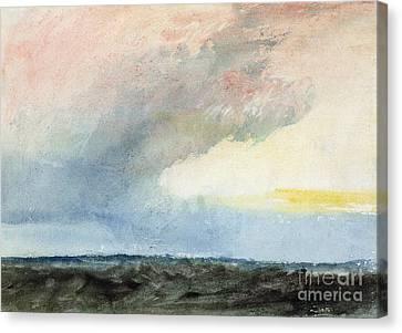 A Rainstorm At Sea Canvas Print by Joseph Mallord William Turner