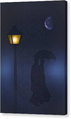A Rainy Night Canvas Print by Tom York Images