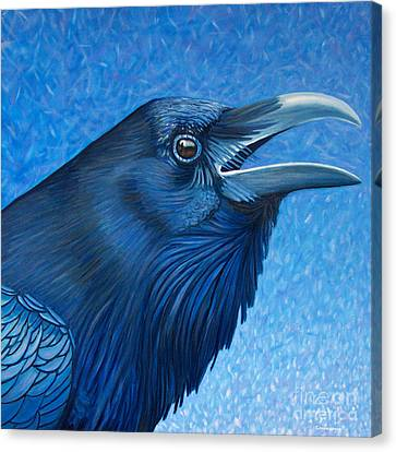 A Raven's Prayer Canvas Print