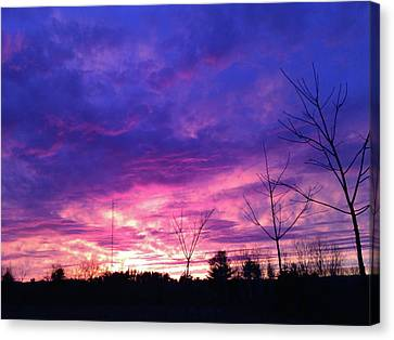 A Real Sunset Canvas Print