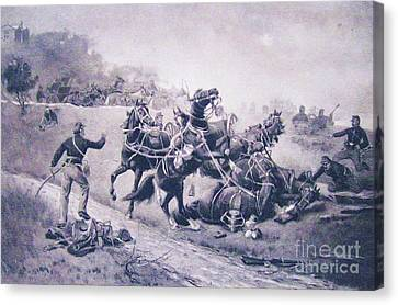 A Recollection Of Gettysburg Canvas Print by Roberto Prusso