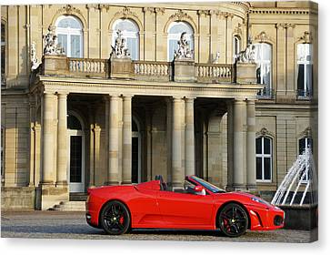 Pleasure Driving Canvas Print - A Red Sports Car From Maranello  by Yven Dienst