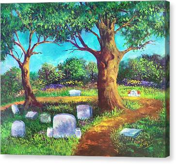 Canvas Print featuring the painting A Remembrance by Randol Burns