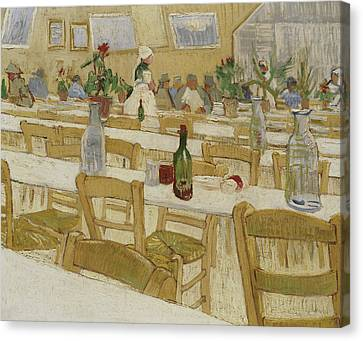 A Restaurant Interior Canvas Print by Vincent Van Gogh