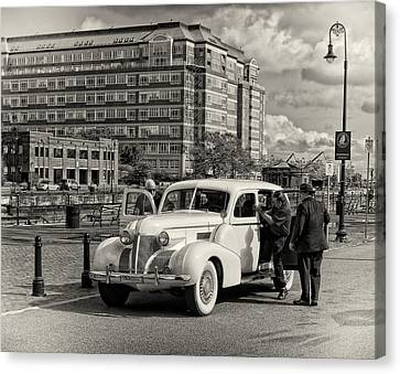 A Ride With The Mob Canvas Print by Michael Avory