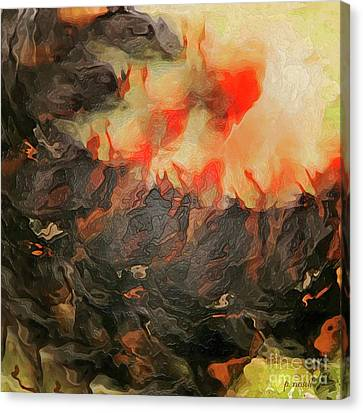 A Rising Storm Canvas Print