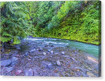 Canvas Print featuring the photograph A River by Jonny D