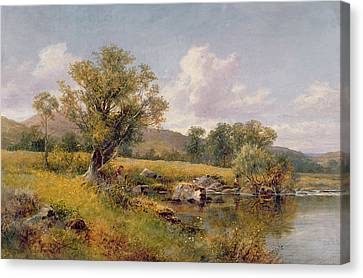 A River Landscape Canvas Print