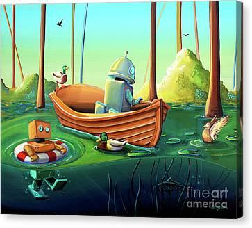 A River Of Curiosity Canvas Print by Cindy Thornton