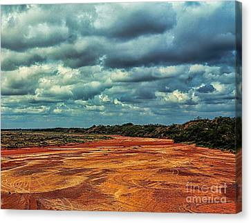 Canvas Print featuring the photograph A River Of Red Sand by Diana Mary Sharpton