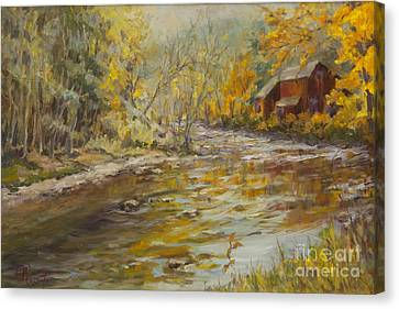 Kent Connecticut Canvas Print - A River Runs By by B Rossitto