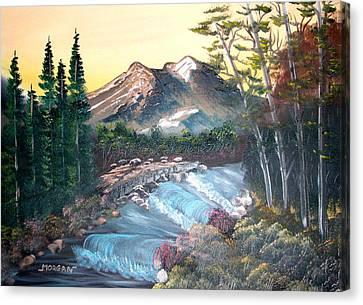 A River Runs Through It Canvas Print by Sheldon Morgan