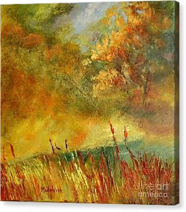A River Runs Through Canvas Print by Madeleine Holzberg