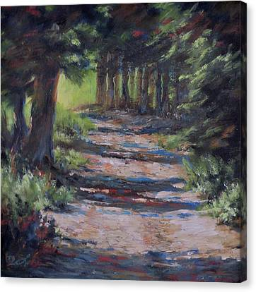 A Road Less Travelled Canvas Print by Mia DeLode