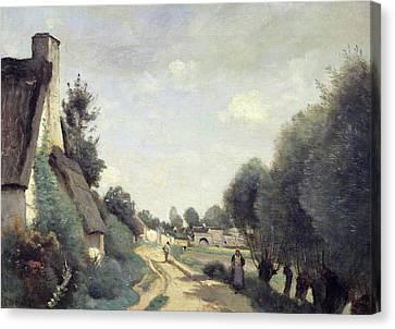 A Road Near Arras Canvas Print by Jean Baptiste Camille Corot