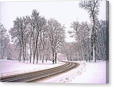 A Road To Winter Canvas Print