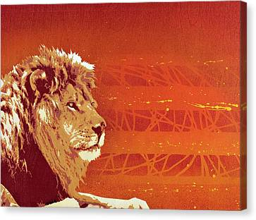 Lion Canvas Print - A Roaring Lion Kills No Game by Tai Taeoalii