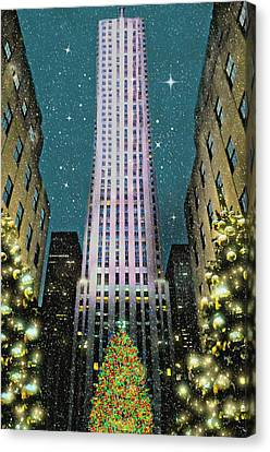 A Rocking Christmas Canvas Print by Diana Angstadt