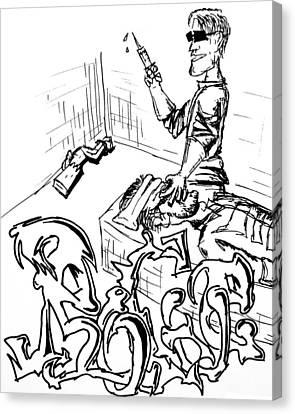 A Rogue Death Canvas Print by Jera Sky