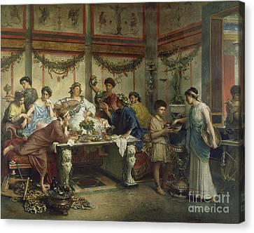 A Roman Feast Canvas Print