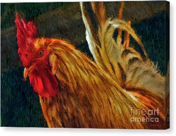 A Rooster's Portrait Canvas Print by Blake Richards