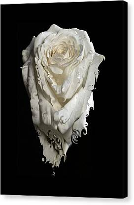 A Rose Melted Down In A Moment Canvas Print by Cristina Tamiso