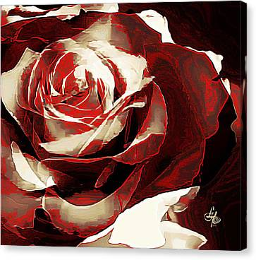 A Rose Of Love Canvas Print by Lynda Payton