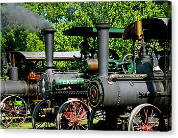 A Row Of Steam Canvas Print by Paul W Faust - Impressions of Light