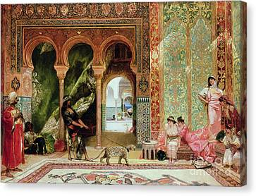A Royal Palace In Morocco Canvas Print by Benjamin Jean Joseph Constant