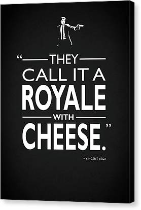 A Royale With Cheese Canvas Print by Mark Rogan