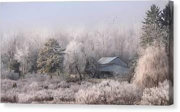 A Rural Neighbor Canvas Print by Lori Deiter
