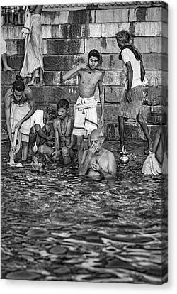 Moksha Canvas Print - A Sacred Place 2 Bw by Steve Harrington
