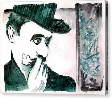 Canvas Print - A Sad Portrait Of Chaplin by Seth Weaver