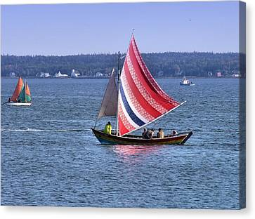 A Sail Of Many Colors Canvas Print by George Cousins
