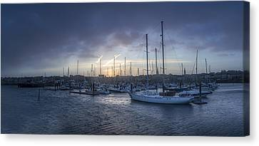 A Sailors Warning At Bangor Marina Canvas Print